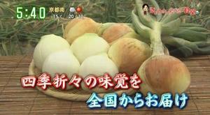 日本テレビ | ズームイン!!サタデー「きょうナニたべたい食堂」のコーナーにて淡路島産玉ねぎ『蜜玉』が紹介されました!