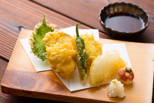べっぴん鱧と玉ねぎの天ぷら